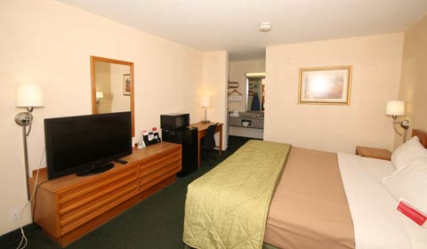 1 Queen Bed Accessible Room at Ramada Wytheville