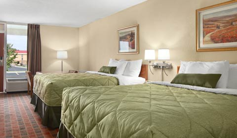 2 Queen Bed Room at Ramada Wytheville